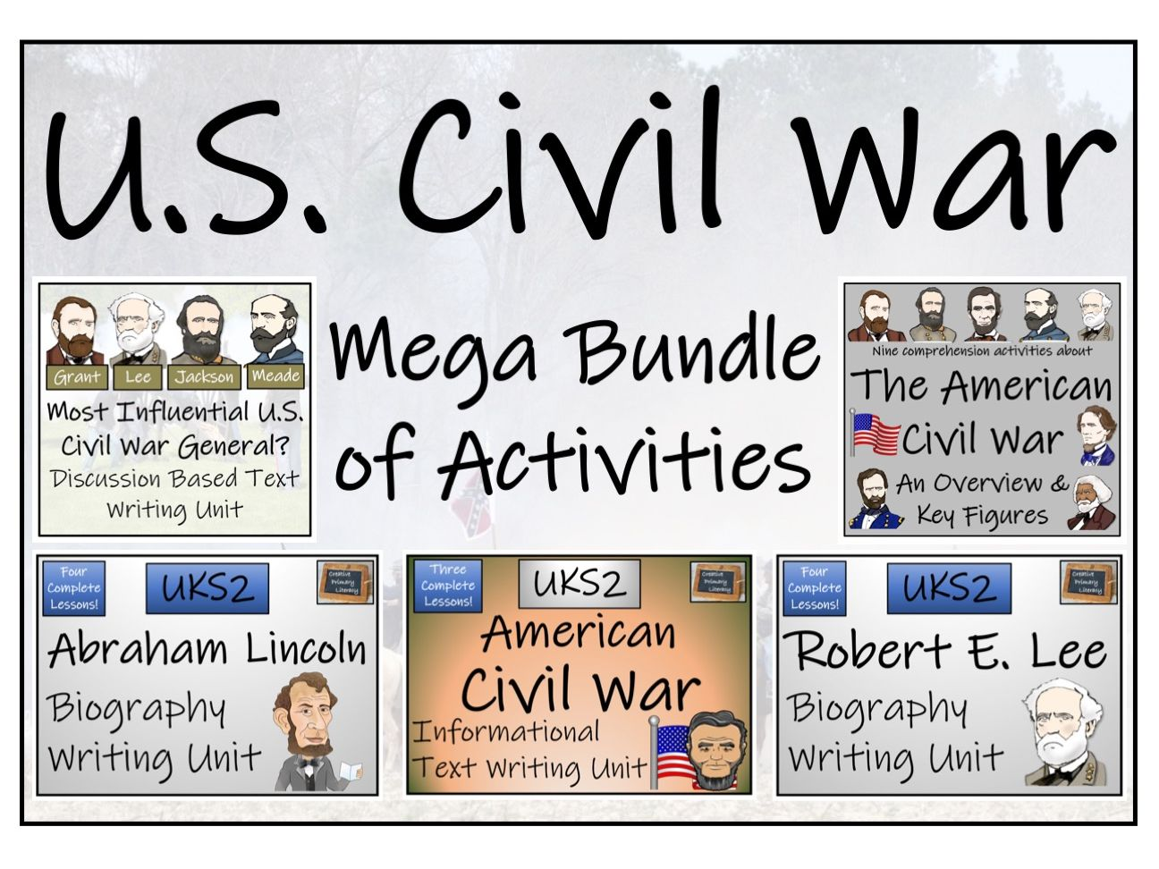 UKS2 American Civil War Reading Comprehension & Writing Bundle