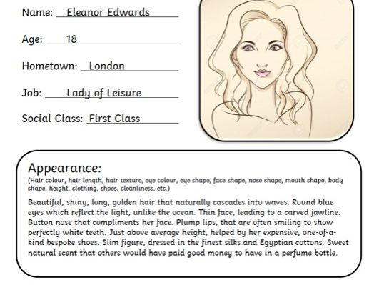 Character Profile Template and WAGOLLs