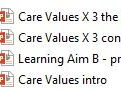 Care Values X 7 (BTEC)