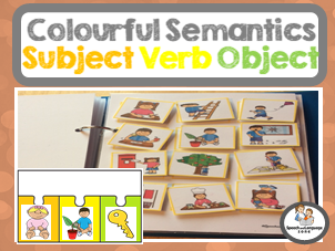 Colourful Semantics Pack - Subject Verb Object