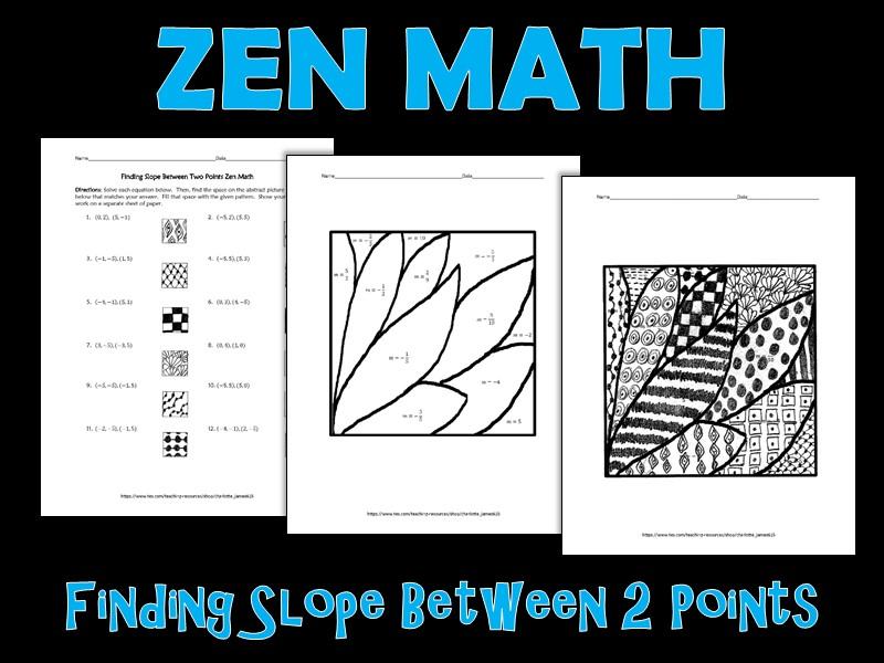 Finding Slope between 2 Points Zen Math