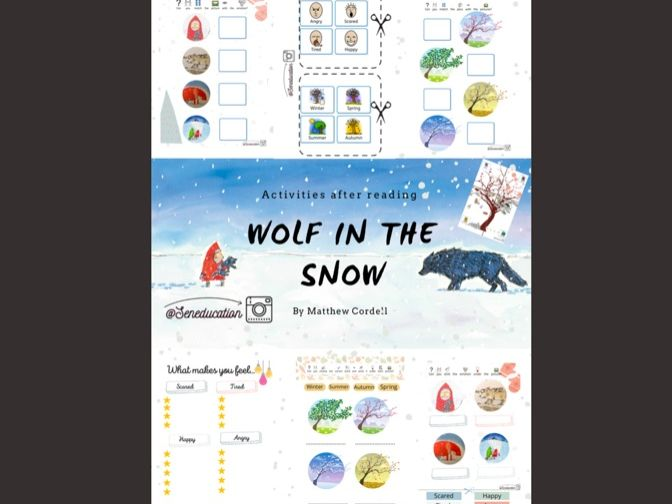 Wolf in the snow-Matthew Cordell-Printableactivities- general & specialeducation
