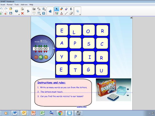 Boggle Starter/Energiser for SMART Notebook
