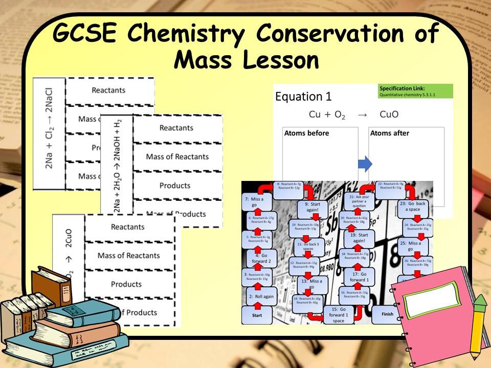 New AQA KS4 GCSE Chemistry (Science) Conservation of Mass Lesson