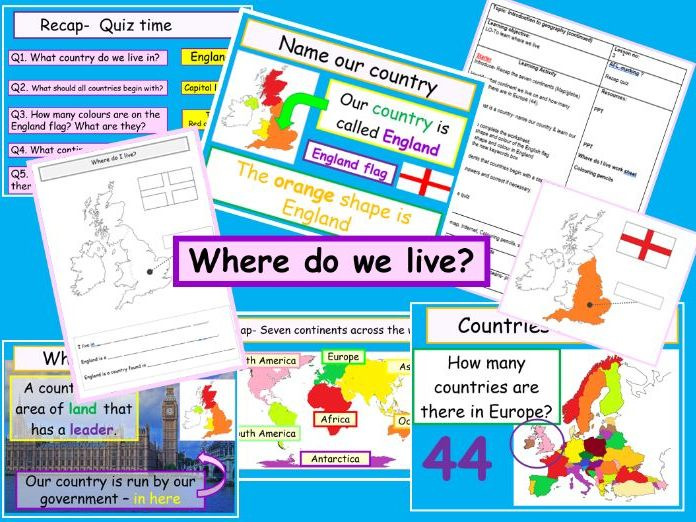 Where do we live? England ks2 ks3 - Our country Europe- interactive & animated geography