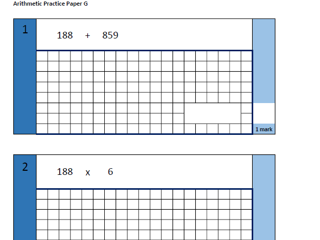 KS2 Arithmetic Practice Papers x 26