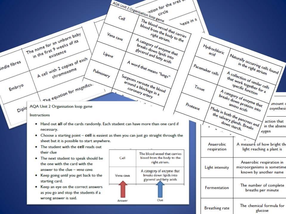 AQA Biology Paper 1 Loop Games