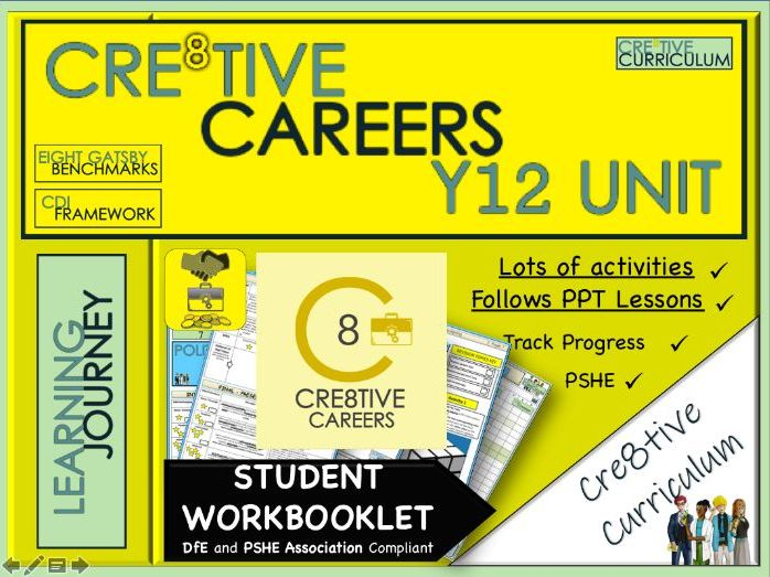 Y13 Cre8tive Careers Student Work Booklet + finance