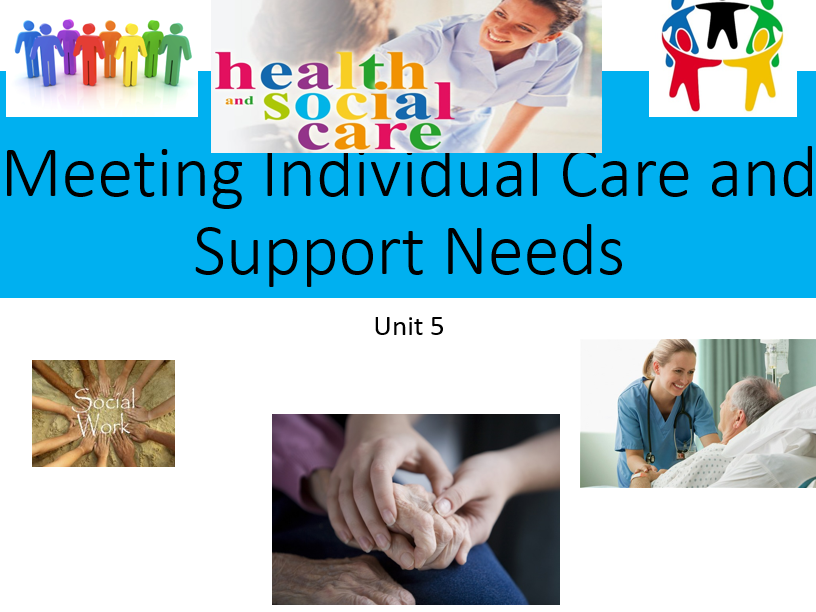 Health&Social Care(New Spec)-Meeting Individual Needs-Unit 5 (P7&D3&D4)-Lesson & Worksheets