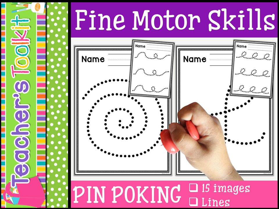 Motor Skills: Pin Poking Lines