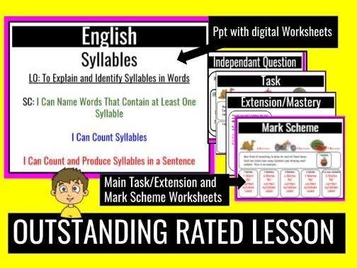 Rated Outstanding - Syllables Complete Lesson