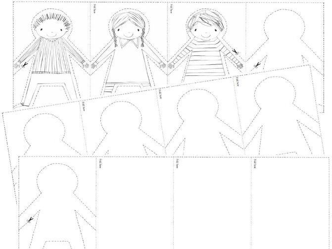 Cut and Colour Paper Dolls to accompany 'Paper Dolls' by Julia Donaldson