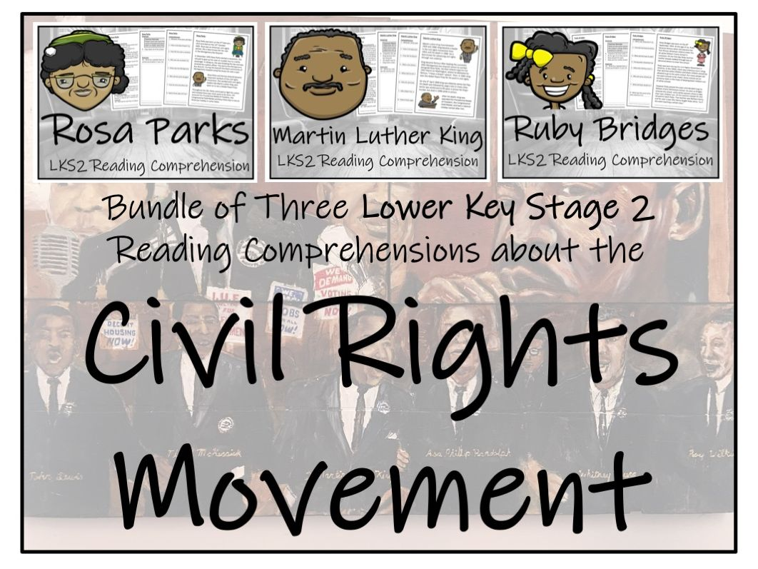 LKS2 History - Key Figures in U.S. Civil Rights -Bundle of Reading Comprehensions