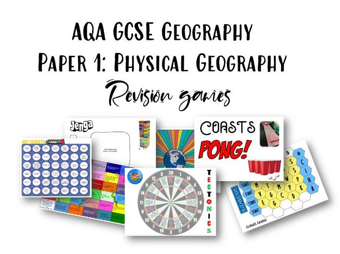 AQA GCSE Geography Paper 1 Revision Games