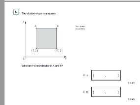 Position of shape - coordinates KS2 - WORKSHEET ONLY