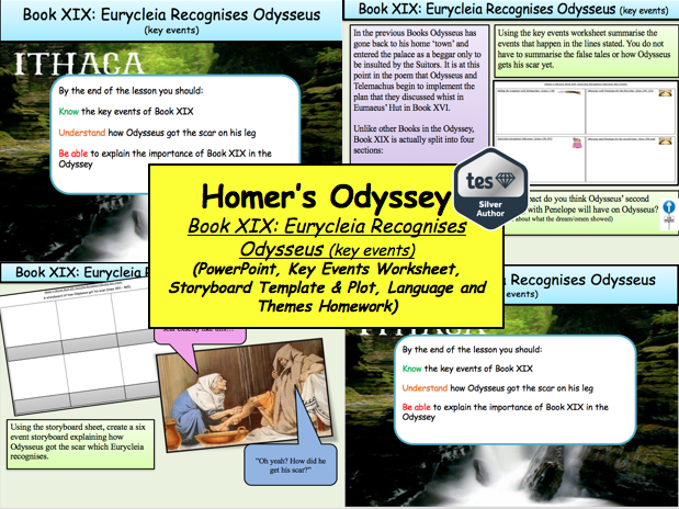 Homer's Odyssey – Book XIX: Eurycleia Recognises Odysseus (key events)