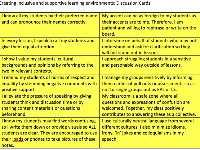 Raising outcomes and creating an inclusive environment INSET