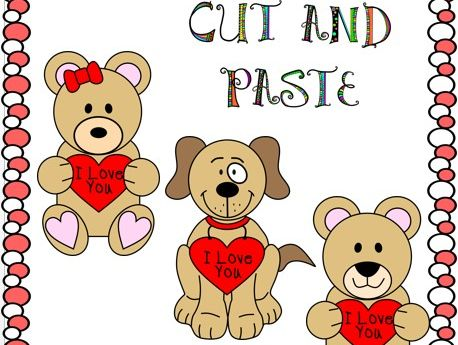Cut and Paste Valentine's Day Crafts