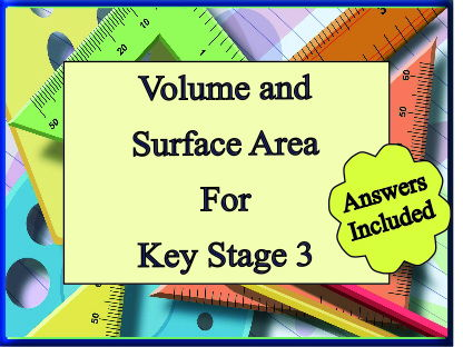 Volume and Surface area of simple prisms for KS3 - with answers