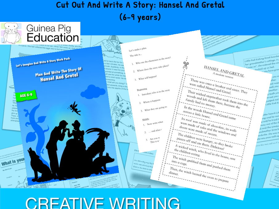 Cut Out And Write A Story: Hansel And Gretal (Let's Imagine And Write A Story)