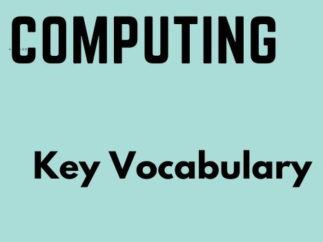 Primary Computing Vocabulary Flashcards