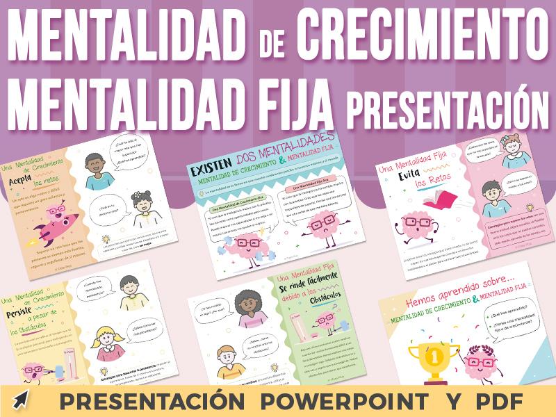 Mentalidad de Crecimiento y Mentalidad Fija - Presentación PowerPoint