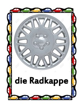 Car parts in German Posters