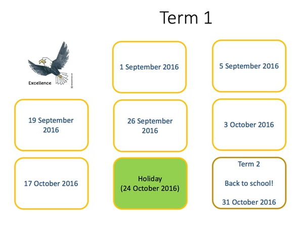 Visual timetable - annual