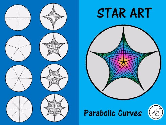Star Art - using parabolic curves