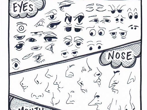 Cartoon Comic Character Face Features   Drawing References