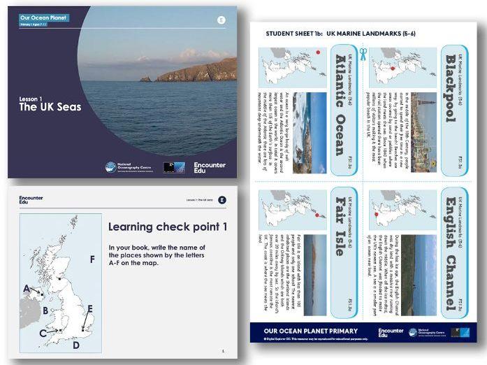 UK surrounding seas KS2 Geography