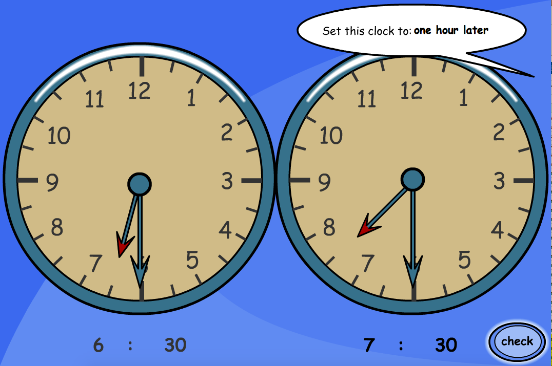 One Hour Earlier/Later (Analogue) - Interactive Activity - KS1/KS2 Measurement