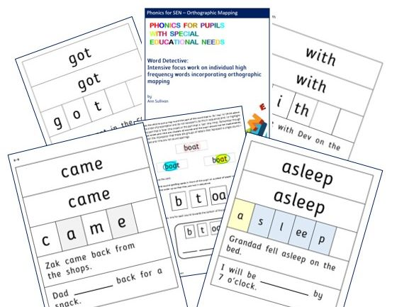 Word Detective - Orthographic Mapping HF Words for Reading Automaticity - PhonicsforSEN