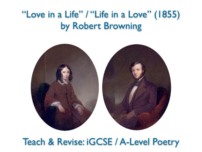 """""""Love in a Life"""" (Robert Browning) - NO PREP TEACH + REVISE + ANSWERS"""