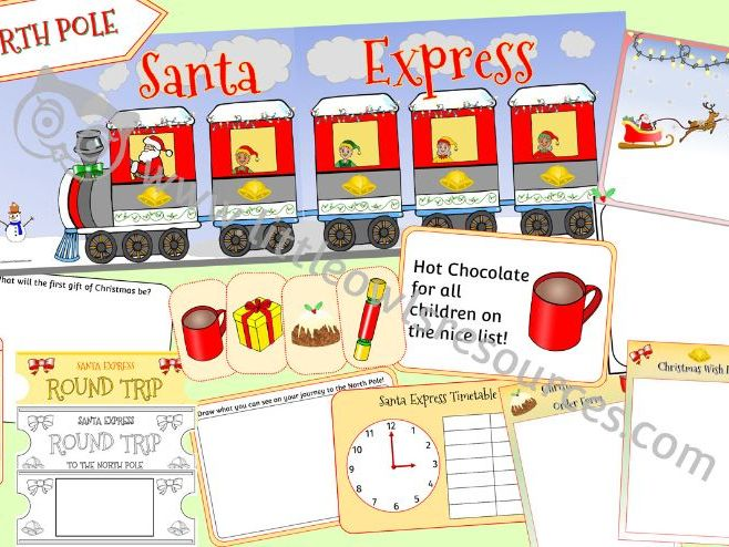 SANTA EXPRESS ROLE PLAY AREA PACK - Christmas Dramatic Role Play