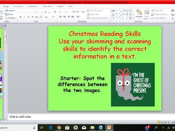 Christmas Themed Reading Activities