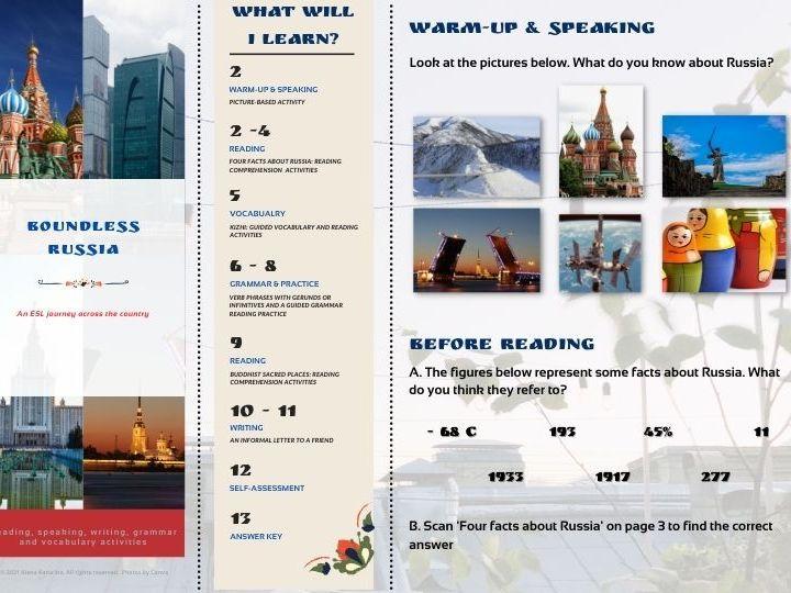 Boundless Russia -  activities worksheet
