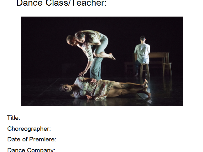Shadows Student Booklet-GCSE Dance