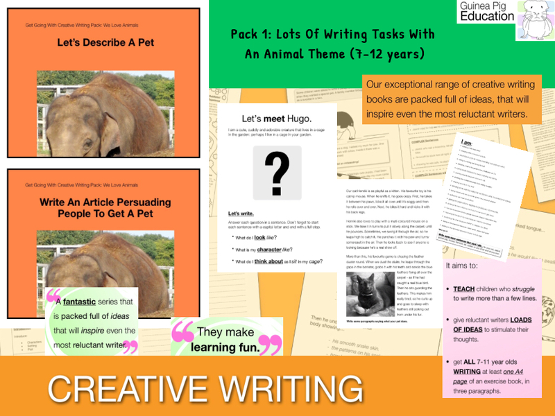 Pack 1: Lots Of Writing Tasks With An Animal Theme (7-13 years)