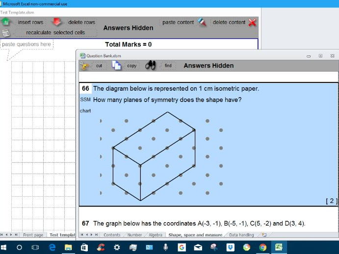 Key Stage 3 Mathematics Test Maker Free