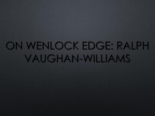 Analysis of On Wenlock Edge