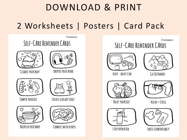 Colouring Worksheet/Self Care Colouring sheet/ Display/ Quiz/Card Game/ Activity