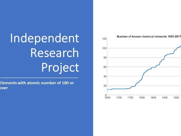 Independent Research Project - new elements -atomic number 100+  - differentiation tool