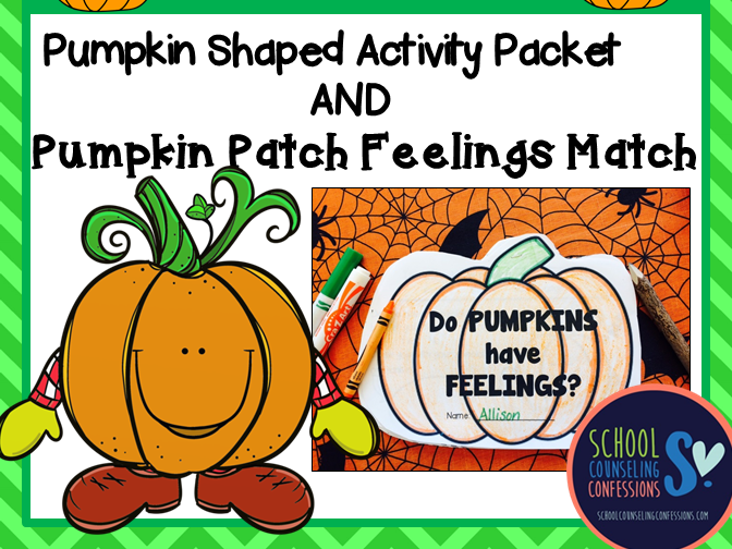 Pumpkin Feelings Activity Packet and Pumpkin Patch Feeling Match Game