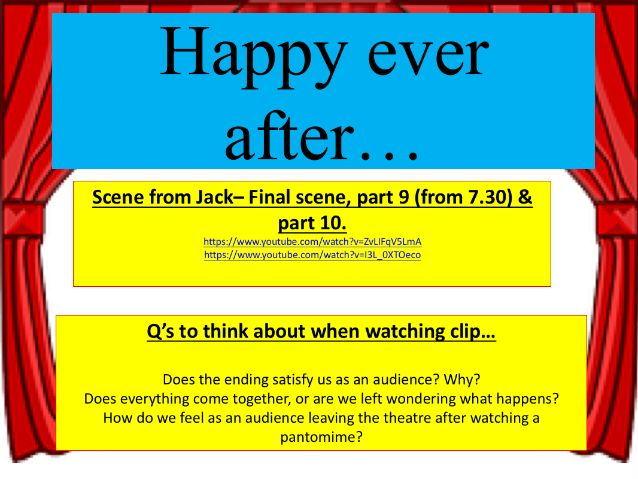 KS3 Drama - Pantomime - Lesson 5
