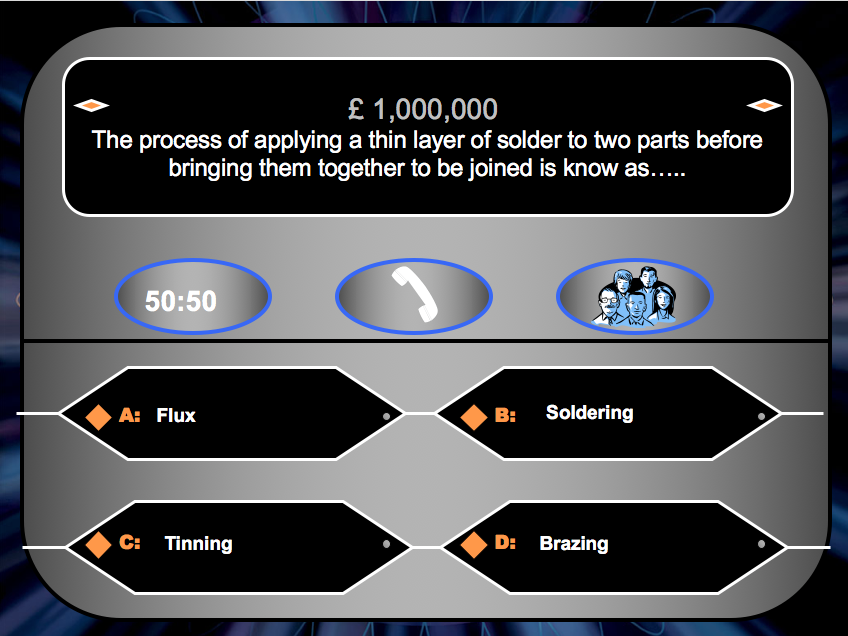 Joining Methods - Who Wants to be a Millionaire
