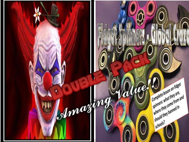 Clown Horror Story and Fidget Spinners Double Pack with Starters