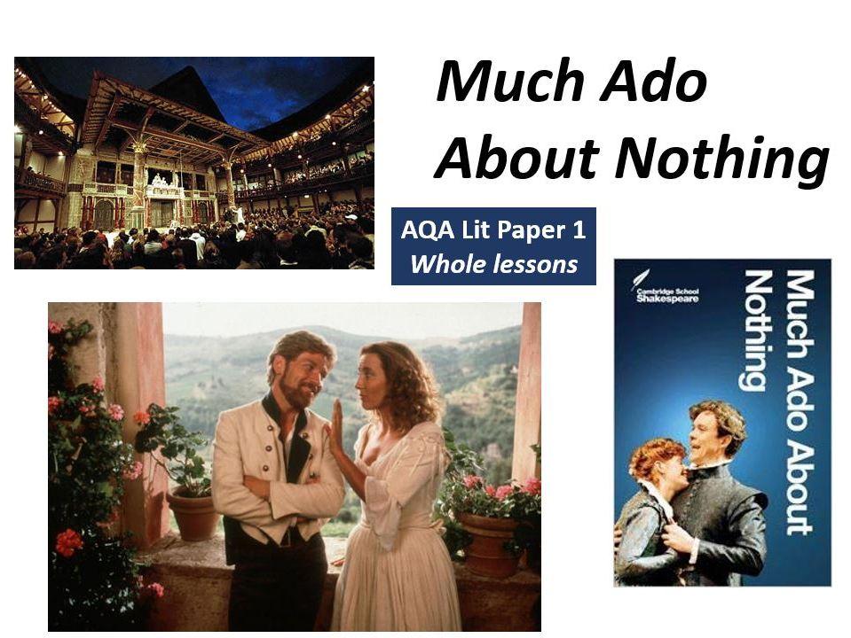 MUCH ADO Act 1 Scene 1 (3 Lessons - Intro to Beatrice & Benedick, Hero, Claudio)