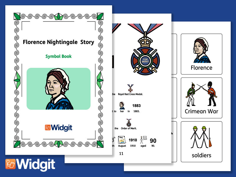 Florence Nightingale - Books and Activities with Widgit Symbols