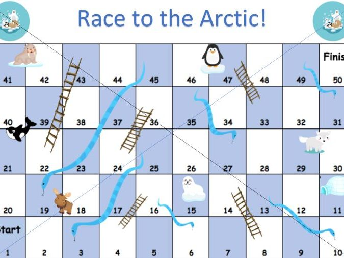 Arctic snakes and ladders template